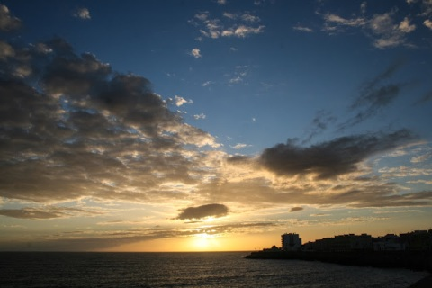 Sunset over the Atlantic, Cadiz