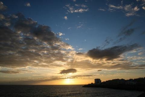 Sunset over the Atlantic, Cadiz