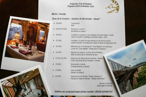 Itinerary for Day 2 of our Al Andalus train tour