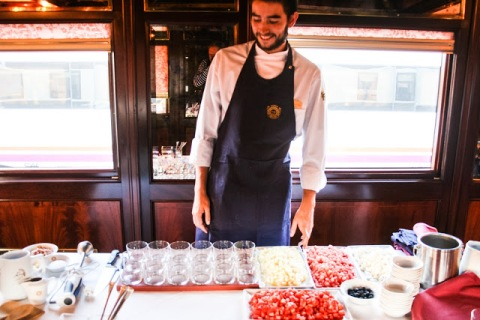 Alejandro, one of the chefs on our Al Andalus train