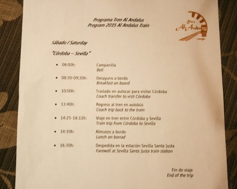 Al Andalus itinerary for Day 6 of the tour