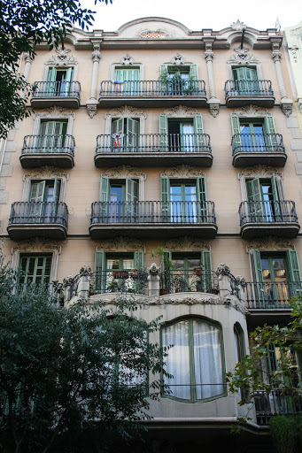 Building with balconies, Barcelona