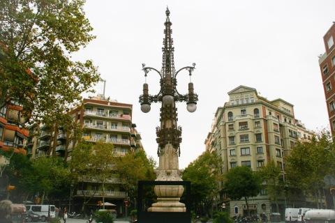 Lovely Moderniste lamp post, Barcelona