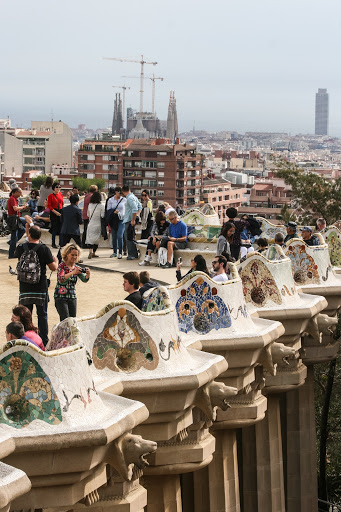 The terrace of Parque Guell