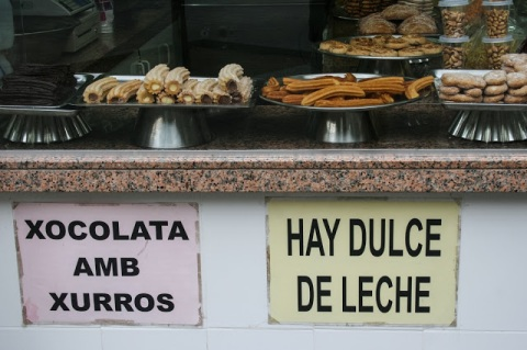 Churros and chocolate in Catalonia