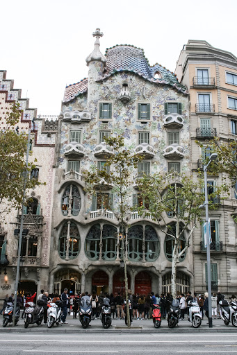 Casa Batllo, designed by Gaudi