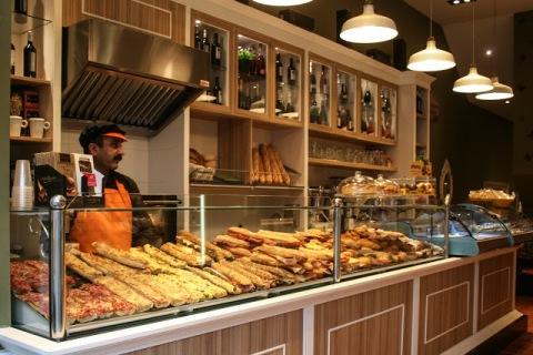 Sandwich shop in Barcelona