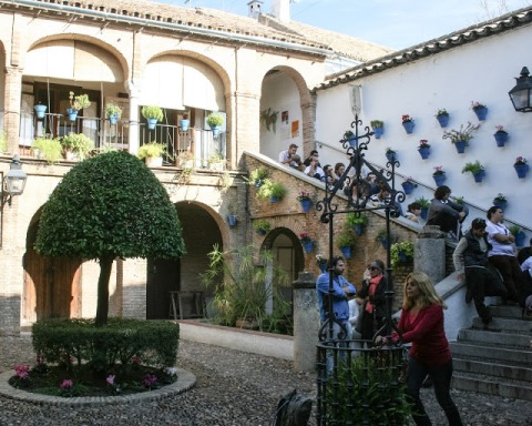 The Jewish quarter was characterized by patios and private courtyards, for which Cordoba is famous.