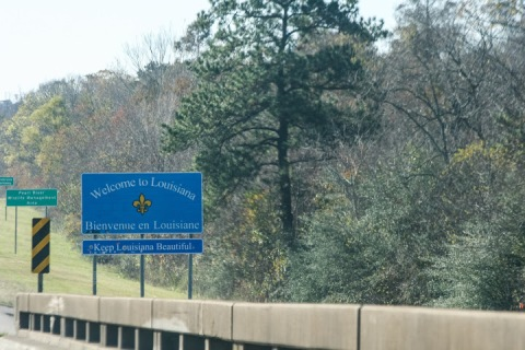 Crossing into Louisiana on I-10