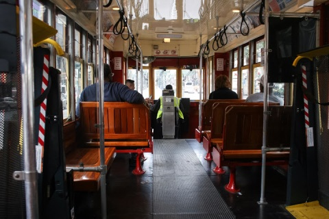 Interior, New Orleans streetcar