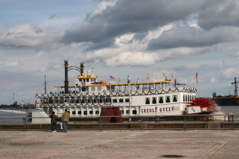 Paddleboat on the Mississippi River in New Orleans