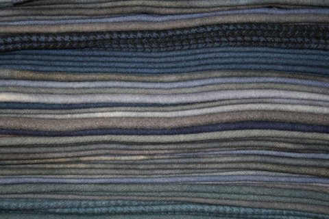 Layers of blue fabric