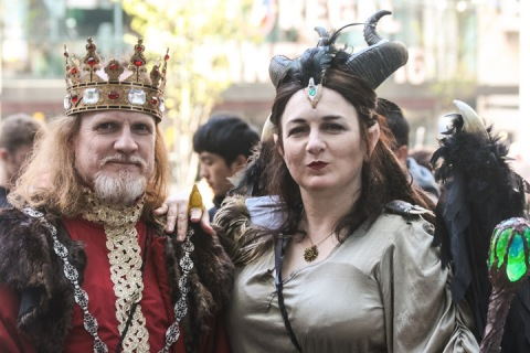 King Stefan and Maleficent on the street outside Comicon, Seattle