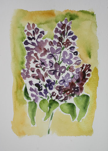 Another attempt at painting lilacs