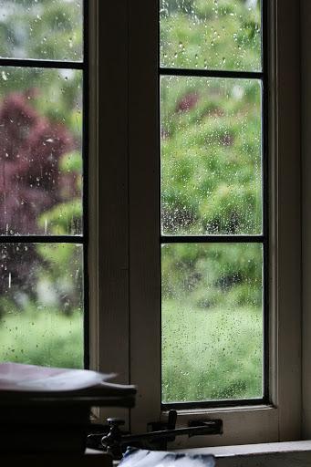 Rain through living room window