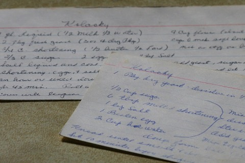 Mom's hand-written recipe cards