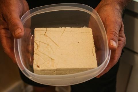 Brick of tofu