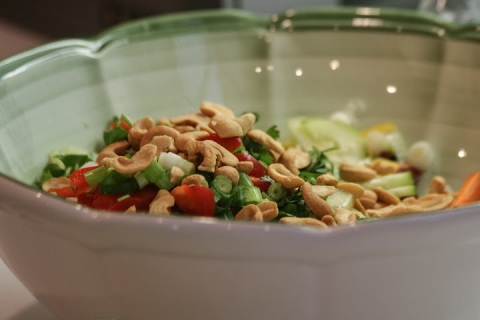 Don added cashews to the list of salad ingredients below