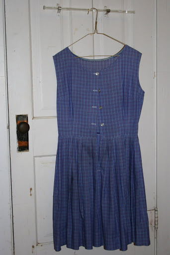 One of Mom's hand-sewn everyday dresses