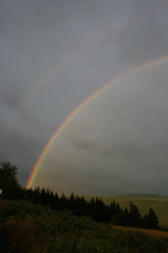 Rainbow over the Columbia River