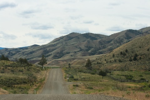 Approaching the Painted Hills of Oregon