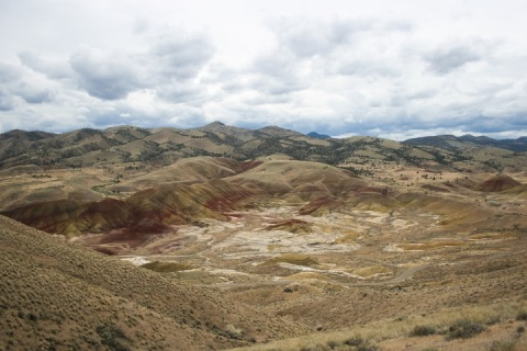 An even higher view of the Painted Hills