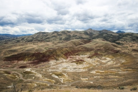 Lofty view of the Painted Hills from the Carroll Rim Trail