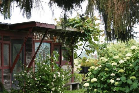 Garden shed at Jello Mold Farm