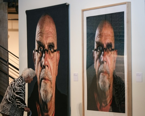 Chuck Close exhibit at the Schack Art Center