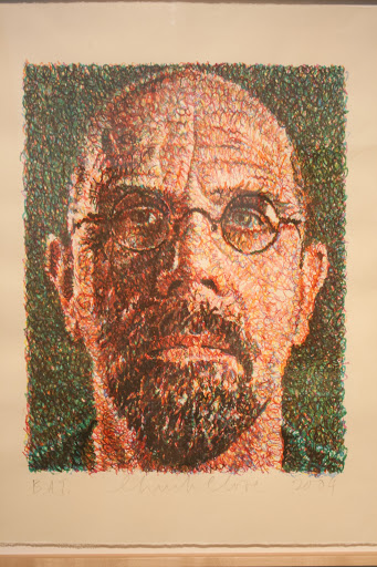 Self-portrait of Chuck Close
