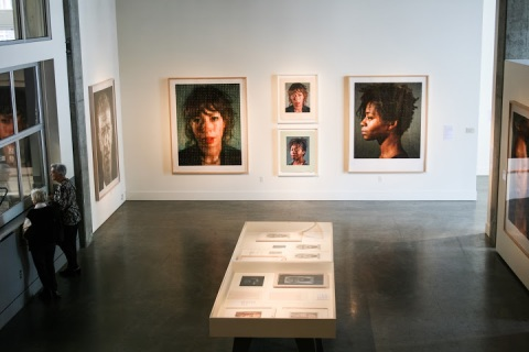Chuck Close exhibit, Schack Art Center
