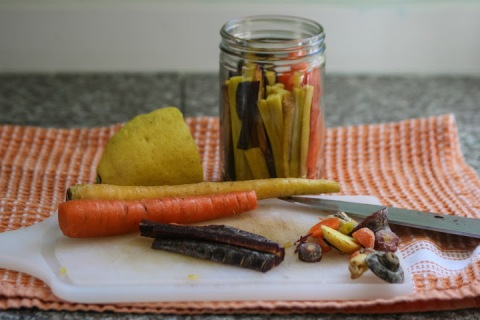 Rainbow carrots from Trader Joes