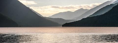 Nearing sunset, Lake Crescent