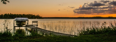 Sunset over Big Turtle Lake