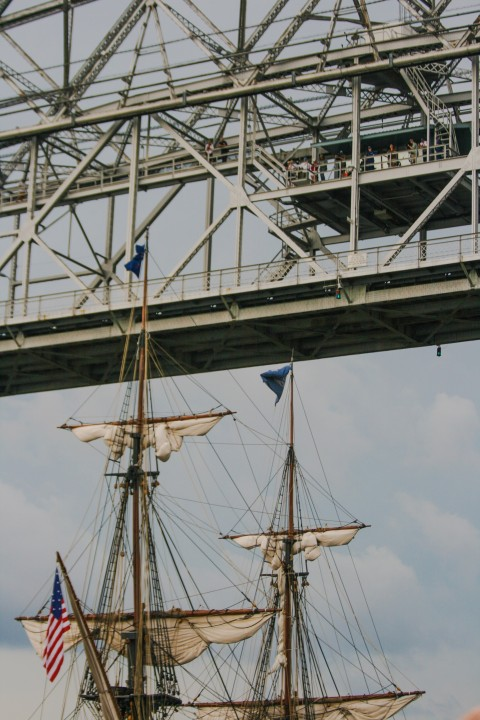 Passing under Duluth's Aerial Bridge (It lifts so ships can pass through)