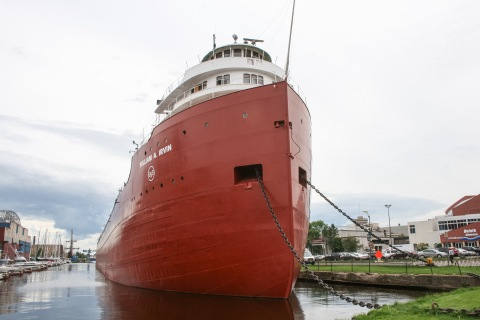 William A. Irvin docked on the Duluth waterfront