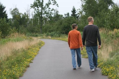 Walking along the Gitchi Gami trail