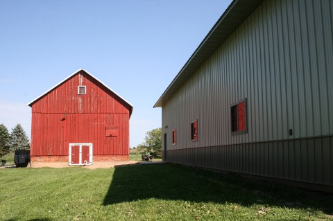 Old barn and new garage
