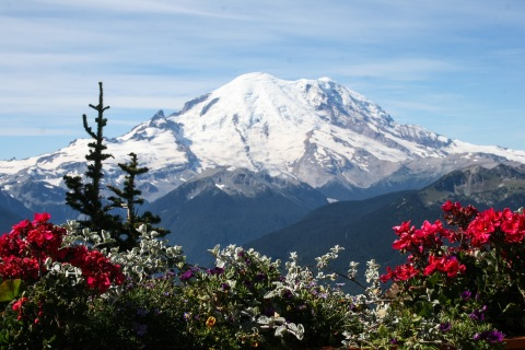 Mount Rainier from the Summit Restaurant at Crystal Mountain