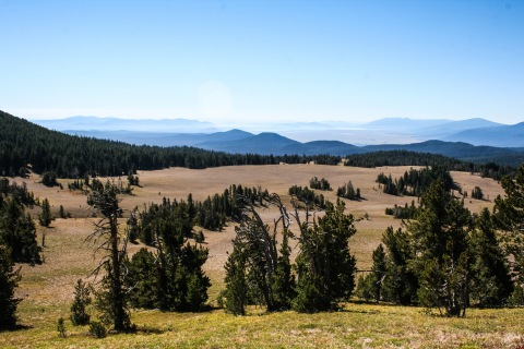 View from the rim road, Crater Lake National Park