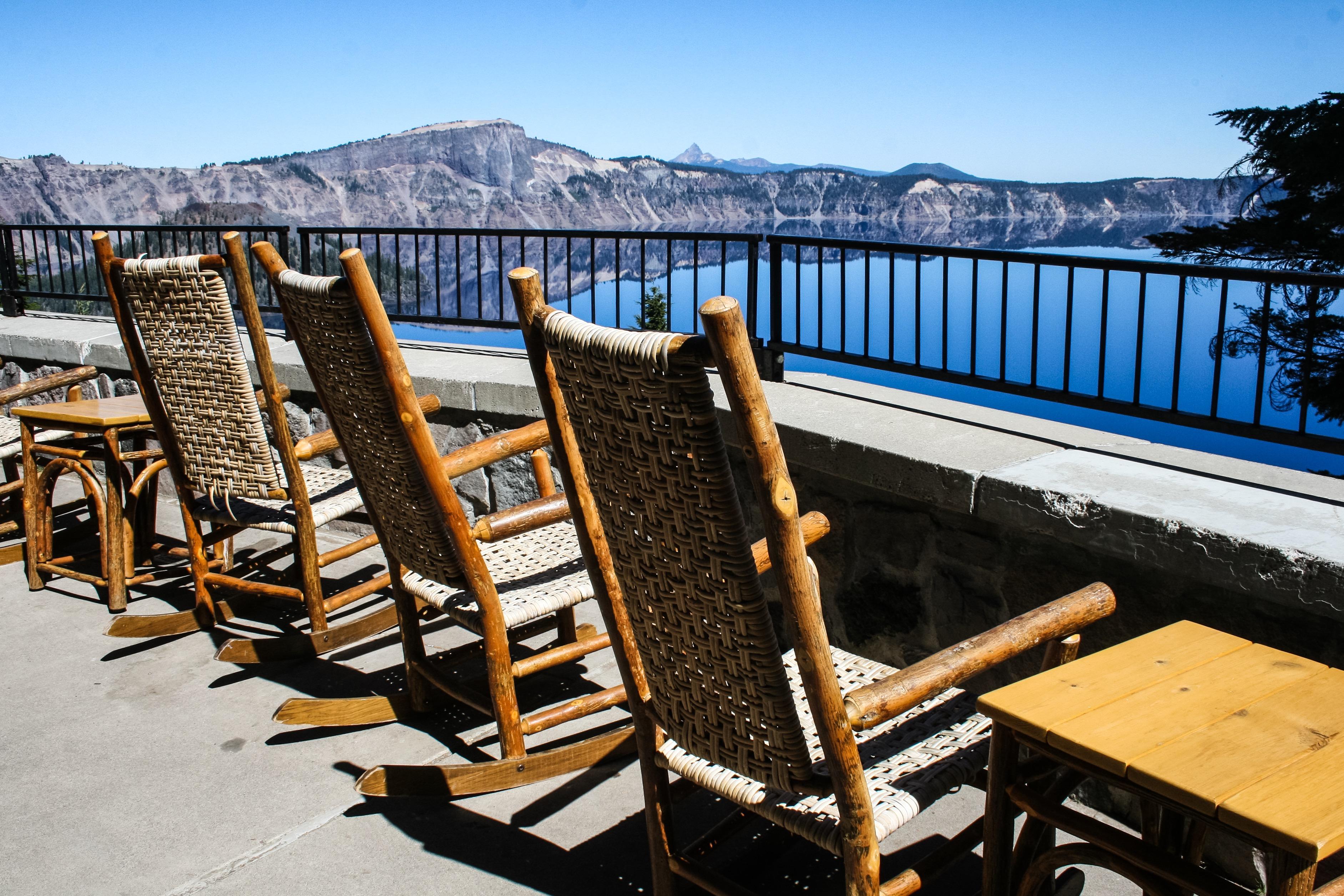 Crater lake Lodge Rocking Chairs