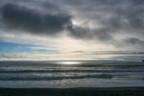 Approaching sunset, Rialto Beach