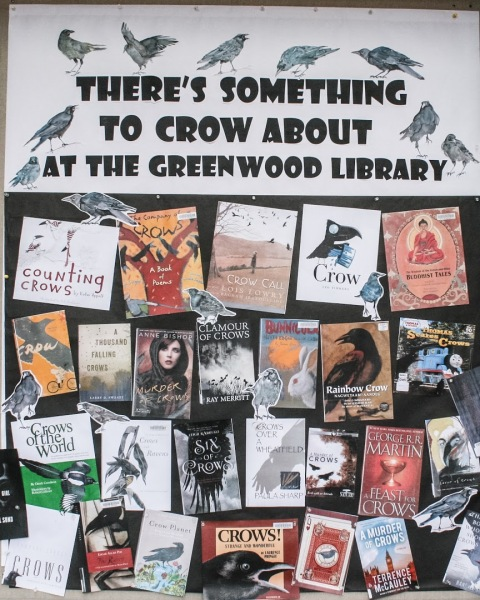 New October display at the Greenwood Library
