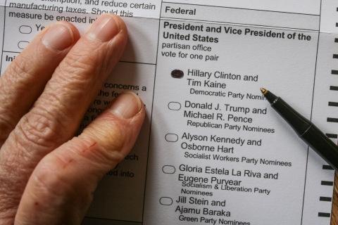 Marking my ballot