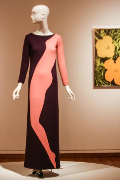Art dress in homage to Tom Wassermann, 1966