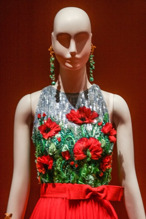 I loved the bodice which looked like a textured painting of poppies. Brilliant!