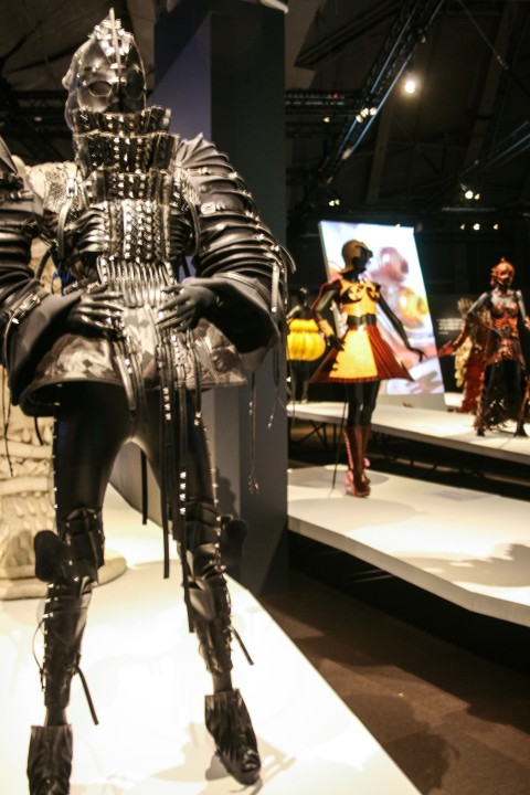 Warrior outfit made of tires