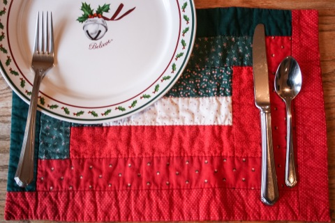 My Christmas-season place mats