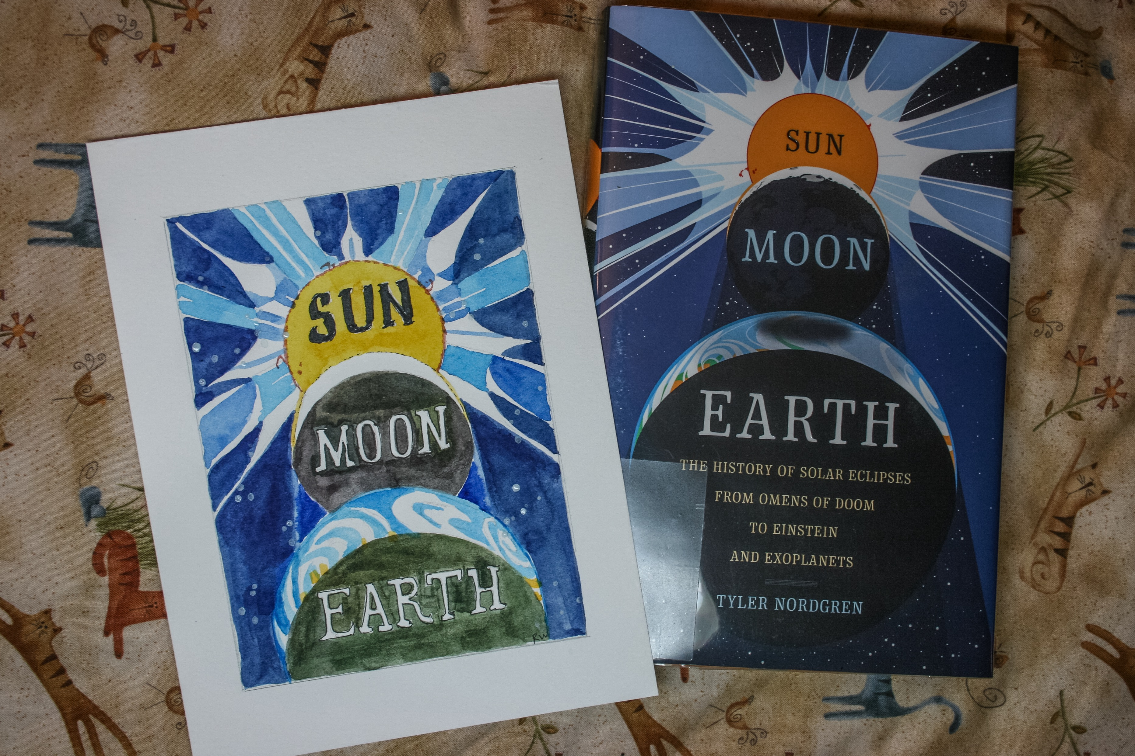 Watercolor book covers - Tyler Norgren S New Book About The August 21 2017 Total Solar Eclipse