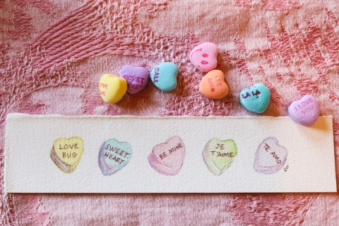 Sweethearts candies for Valentine's Day